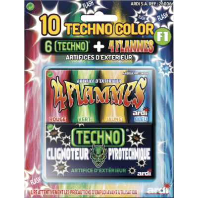 10 techno color setje