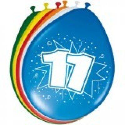 ballonnen 11 jaar 8 stuks