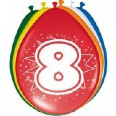 ballonnen 8 jaar 8 stuks