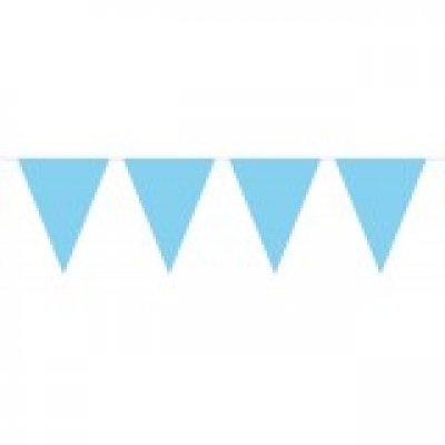 Vlaggenlijn licht blauwe 10 meter