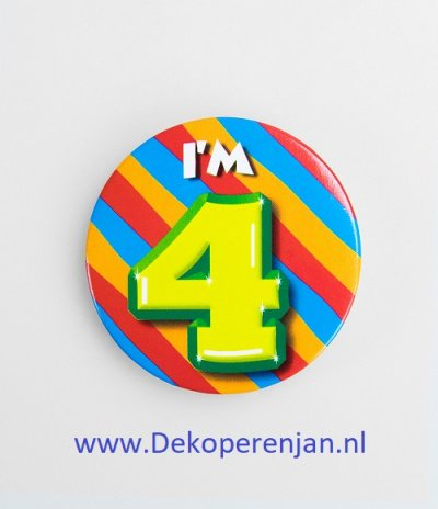 4 jaar button