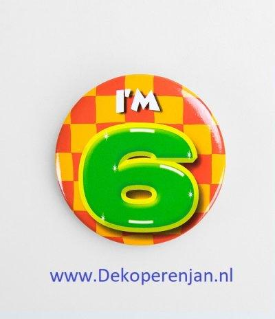 6 jaar button