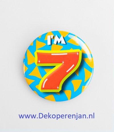7 jaar button