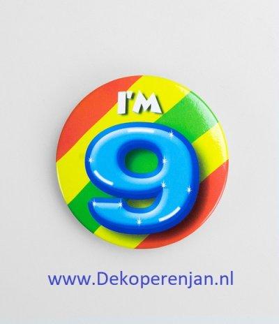 9 jaar button
