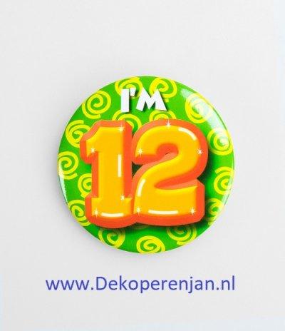 12 jaar button