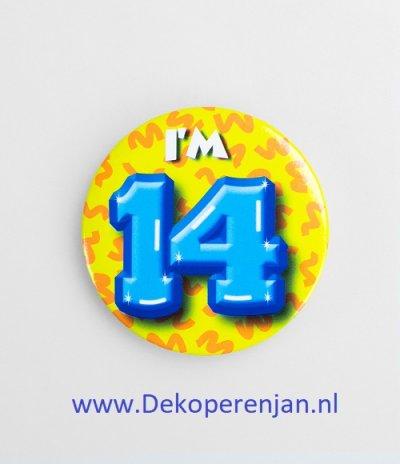 14 jaar button
