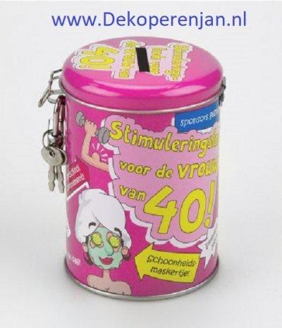 spaarpot 40 jaar vrouw
