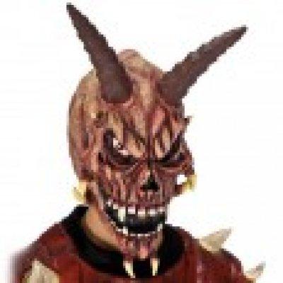 Duivel masker met hoorns