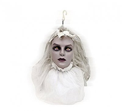 Hanging Bride Head with Movement, Light and Sound (26x40 CM)