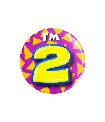 2 jaar button