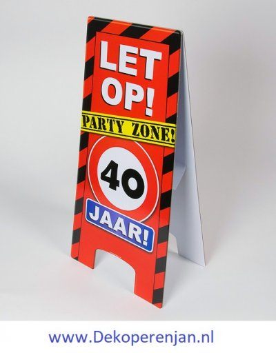 warning signs 40 Jaar