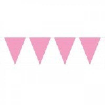 Baby roze Vlaggenlijn XL - 10 meter