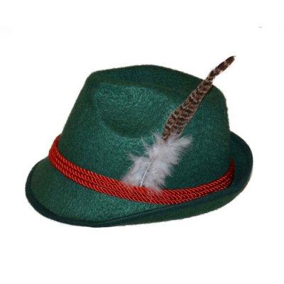 Tyrolean hoedje met veer