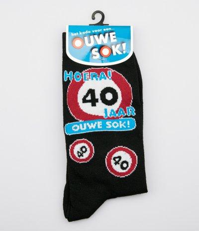 Sokken 40 jaar ouwe sok (one size)