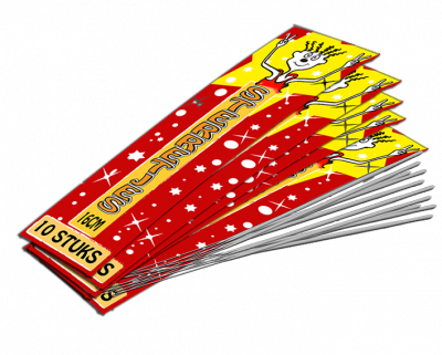 Sterretjes 16 cm  - 5 zakjes