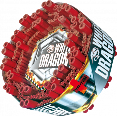 Chinese Rol White Dragon met eindbom | 20.000 klapper