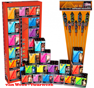 Supreme pack 3 inclusief Supreme Rockets