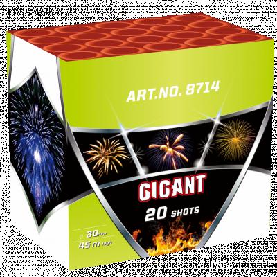 GIGANT 20 schoten GRATIS TUSSEN €120 - €150 *Superacties en Outlet tellen NIET mee voor het gratis vuurwerk.