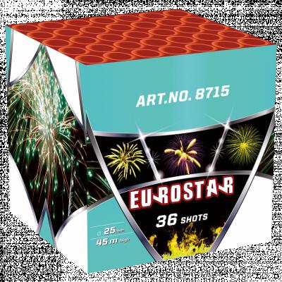 EUROSTAR 36 schoten GRATIS TUSSEN €150 - €200 *Superacties en Outlet tellen NIET mee voor het gratis vuurwerk.