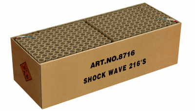 SHOCK WAVE 216 schoten GRATIS TUSSEN €300-400 *Superacties en Outlet tellen NIET mee voor het gratis vuurwerk.