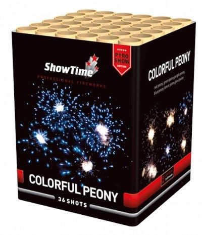 Colorful Peony Blauw