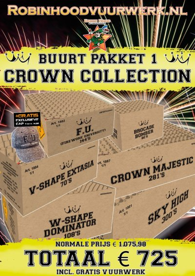 Crown Brown Boxes Straat Pakket