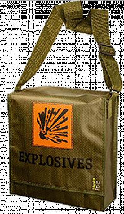 Knaltas vol vuurwerk (Explosives tas)