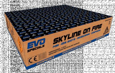 ART. 14911 Skyline on Fire, 259 shots, 25/30/50 mm tube size