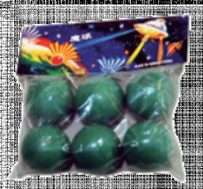 Art. 308 Crackling Balls, 6 stuks Cat. 1