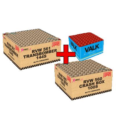 COMBI DEAL 1 TRANSBOMBER + CRASHBOX + VALK TI THUNDER