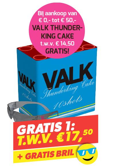 Gratis 1: Valk Thunderking cake + bril