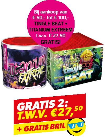 Gratis 2: Tingle Beat + Titanium + Bril