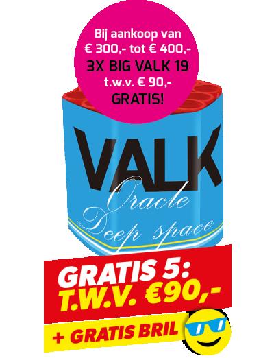Gratis 5: Big Valk 19 3 stuks + Bril