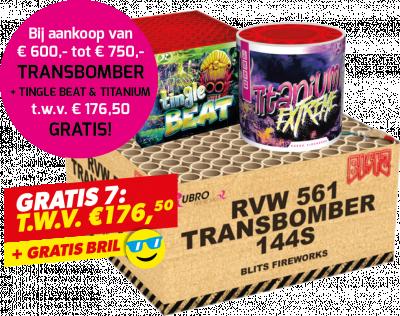 Gratis 7: Transbomber + Tingle Beat + Titanium + Bril