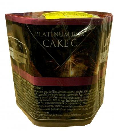 Art. 1903 Platinum roze cake C, 19 shots