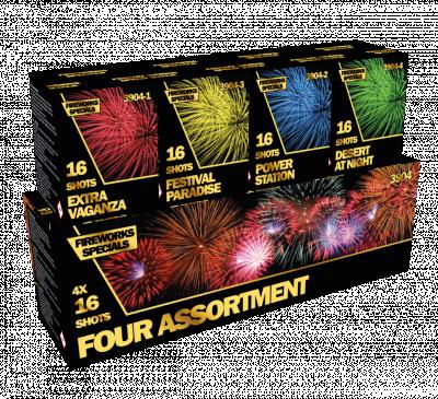 ART. 3904  Four Assortment, 4 x 16 shots