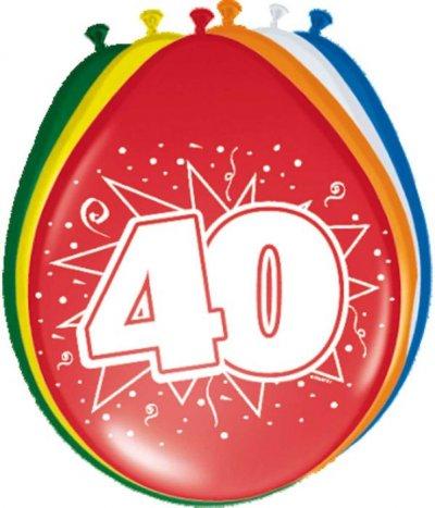 Ballonnen 40 jaar 8st 30cm