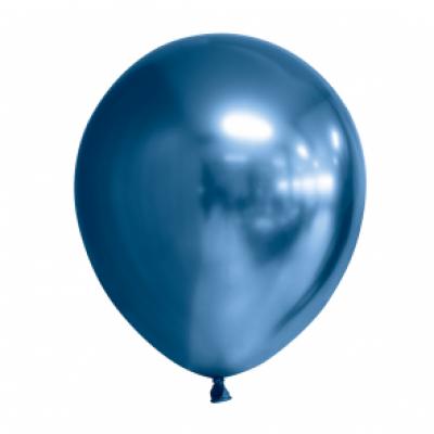 Ballonnen blauw chrome 10st 30cm