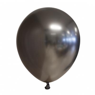 Ballonnen donker grijs chrome 10st 30cm