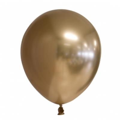Ballonnen goud chrome 10st 30cm