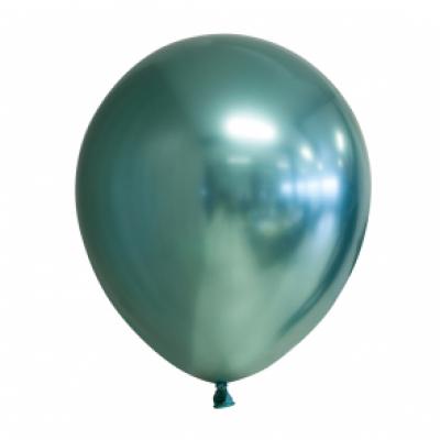 Ballonnen groen chrome 10st 30cm