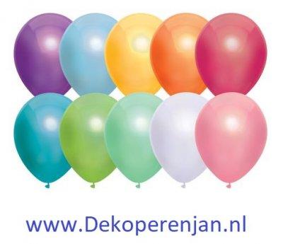 Ballonnen Metallic Assorti 30cm 10st