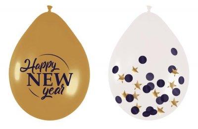 """Ballonnen mix set """"Happy New Year"""" 30cm, 6st"""