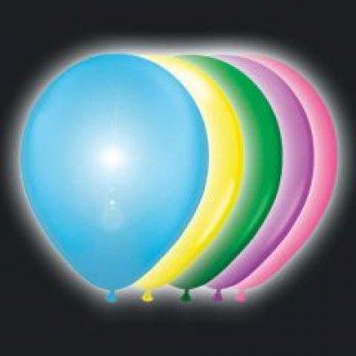 Ballonnen multikleur met led 5 stuks