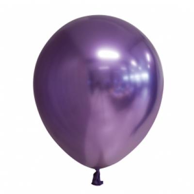Ballonnen paars chrome 10st 30cm