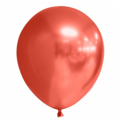 Ballonnen rood chrome 10st 30cm