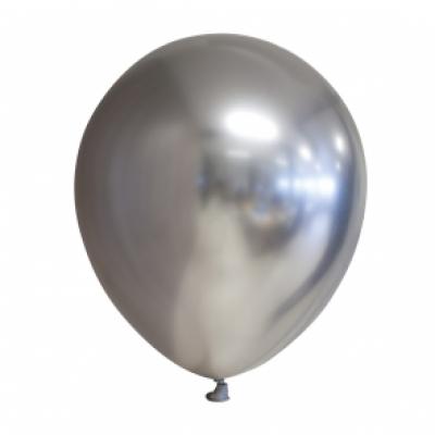 Ballonnen zilver chrome 10st 30cm