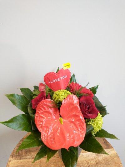 Biedemeijer boeket valentijn