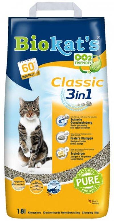 Biokat's Classic kattenbakvulling 18 L - 2 stuks