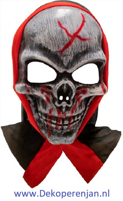 Bloody Skull Pvc Wit/rood One-size